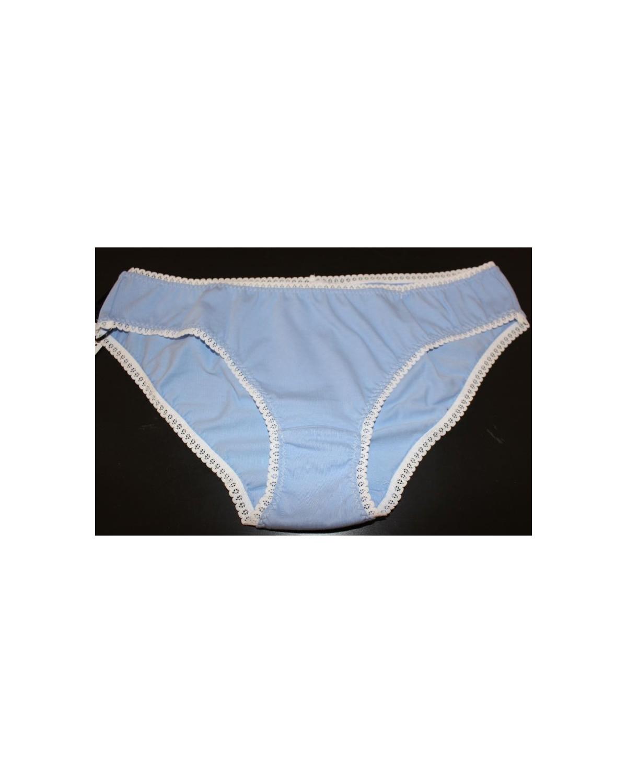 culotte taille 42 bleu coton bio
