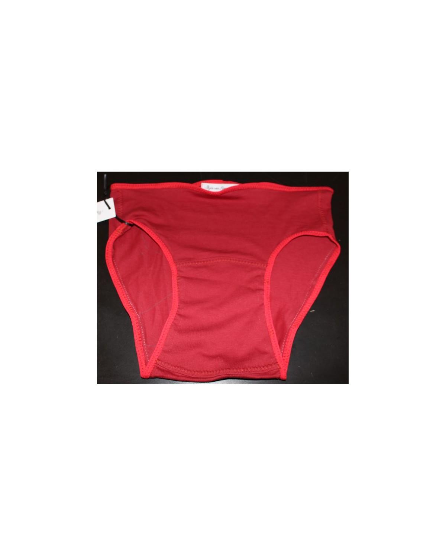 culotte coton bio rouge 36