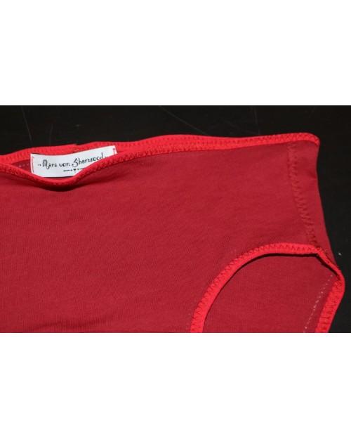 culotte coton bio rouge détail