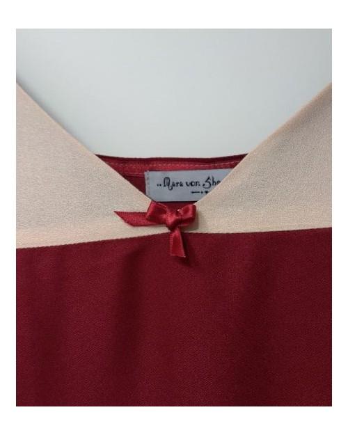 débardeur viscose bicolore détail noeud